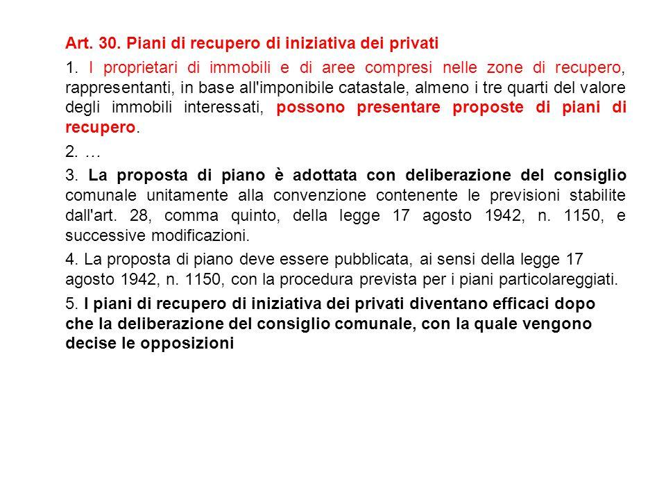 Art. 30. Piani di recupero di iniziativa dei privati