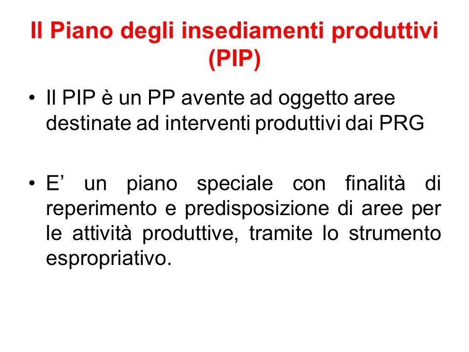 Il Piano degli insediamenti produttivi (PIP)