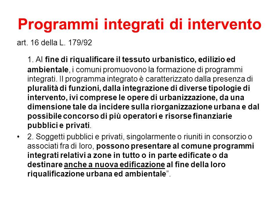 Programmi integrati di intervento