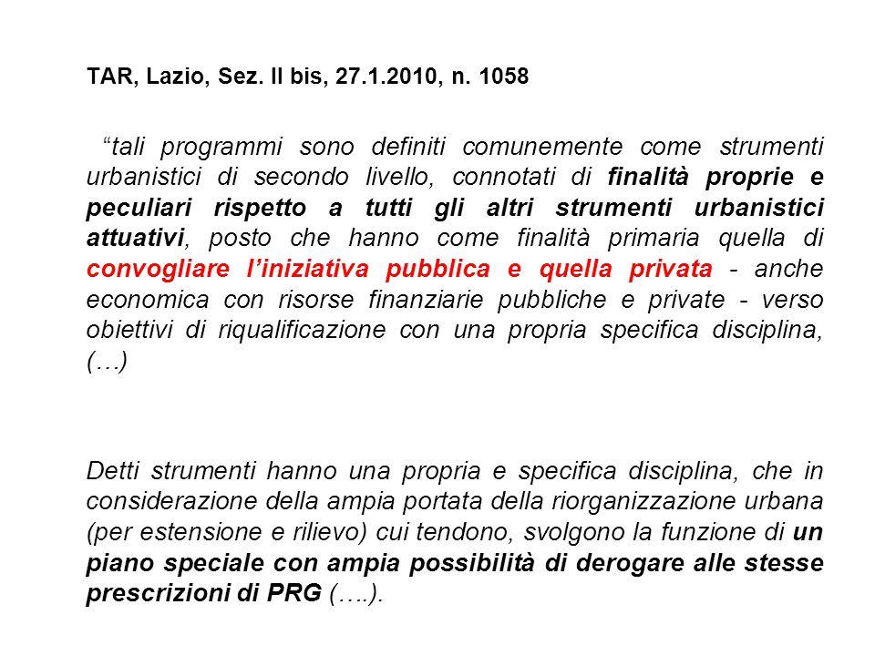 TAR, Lazio, Sez. II bis, 27.1.2010, n. 1058