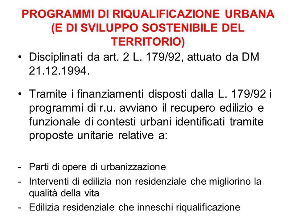 Disciplinati da art. 2 L. 179/92, attuato da DM 21.12.1994.