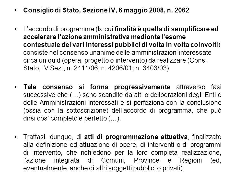 Consiglio di Stato, Sezione IV, 6 maggio 2008, n. 2062