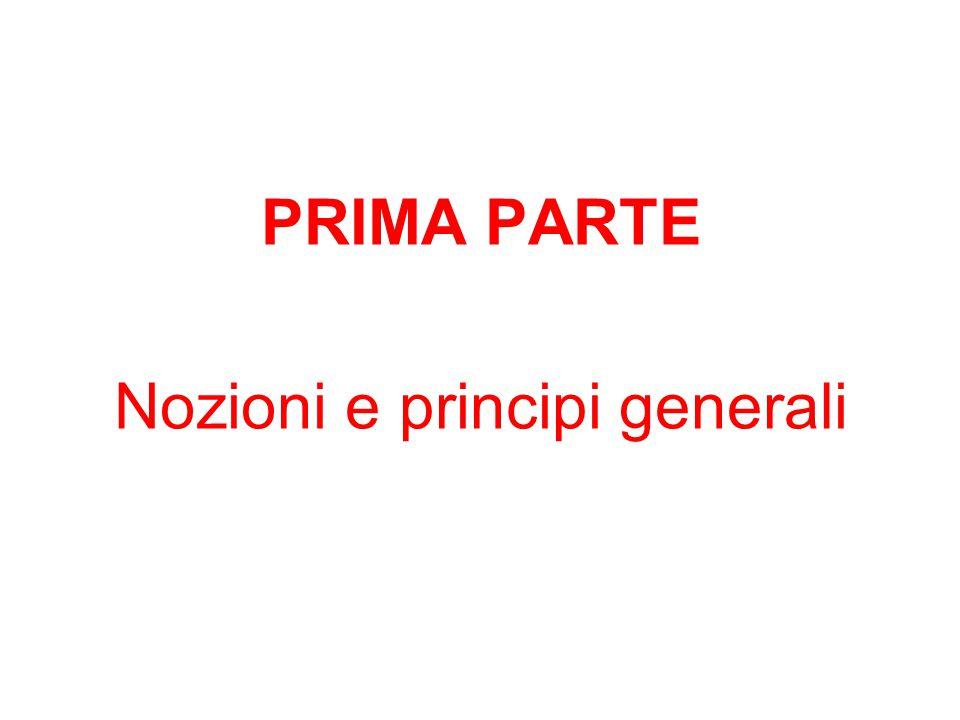 Nozioni e principi generali