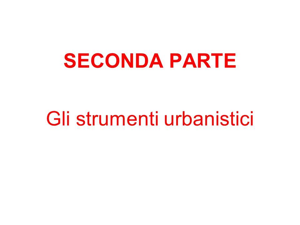 Gli strumenti urbanistici