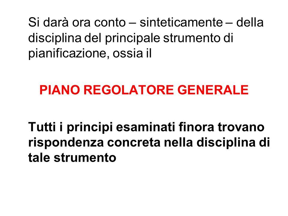PIANO REGOLATORE GENERALE