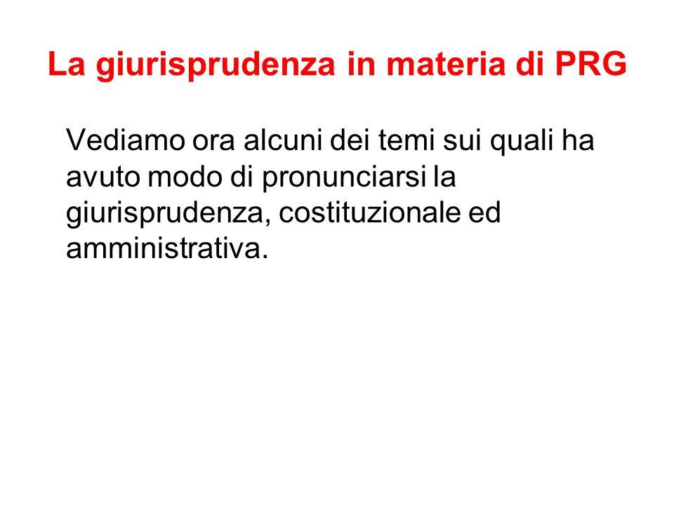 La giurisprudenza in materia di PRG