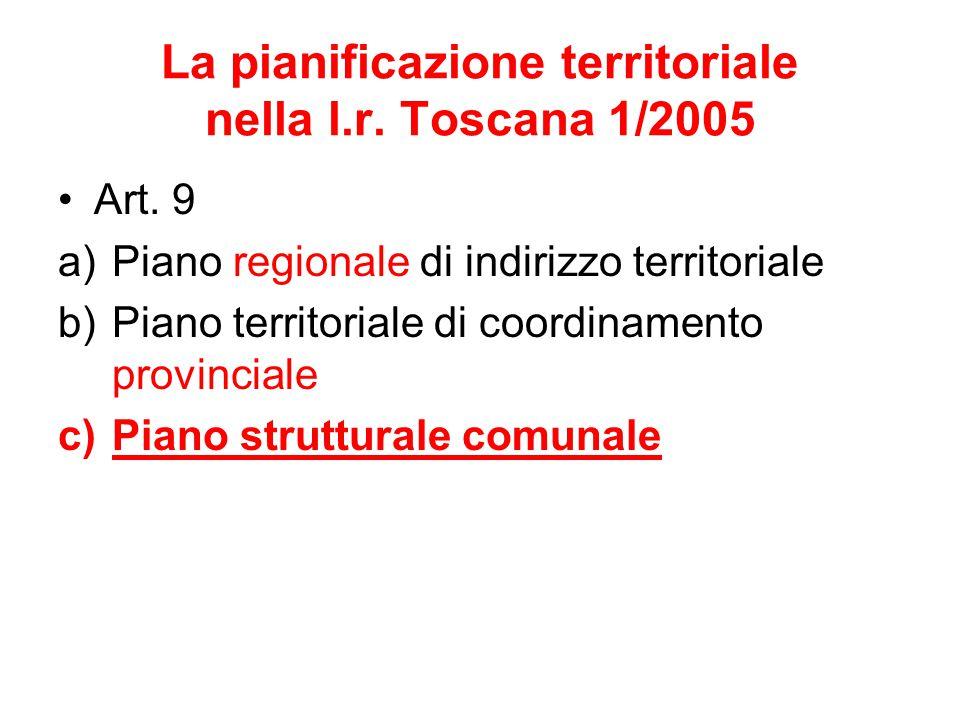 La pianificazione territoriale nella l.r. Toscana 1/2005