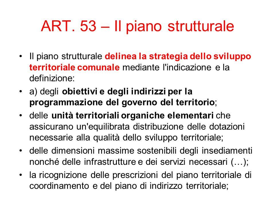 ART. 53 – Il piano strutturale