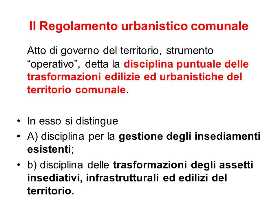 Il Regolamento urbanistico comunale