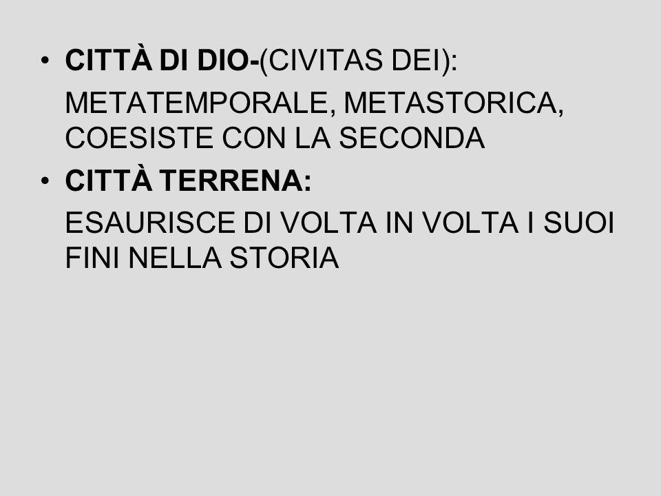 CITTÀ DI DIO-(CIVITAS DEI):