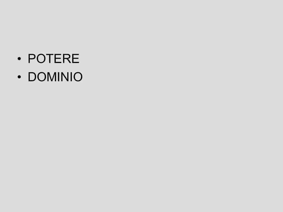 POTERE DOMINIO