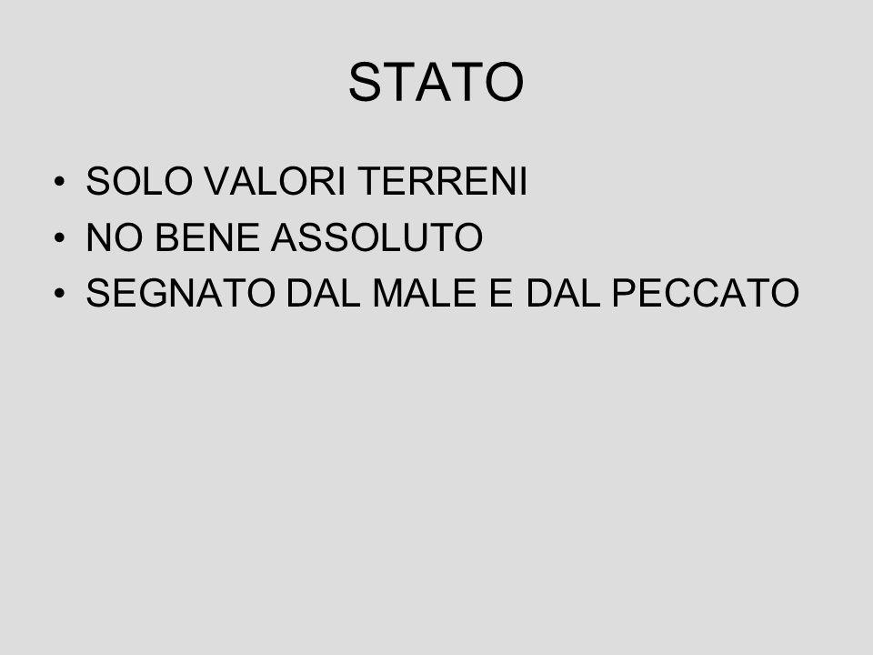 STATO SOLO VALORI TERRENI NO BENE ASSOLUTO