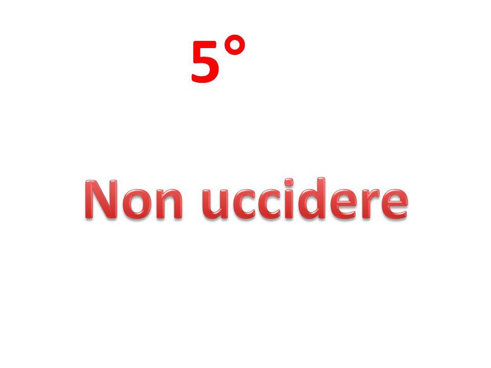 5° Non uccidere