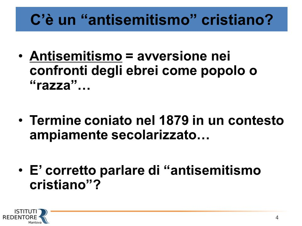 C'è un antisemitismo cristiano