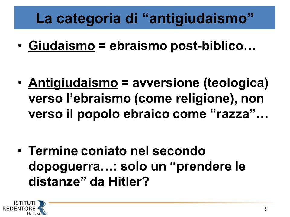 La categoria di antigiudaismo
