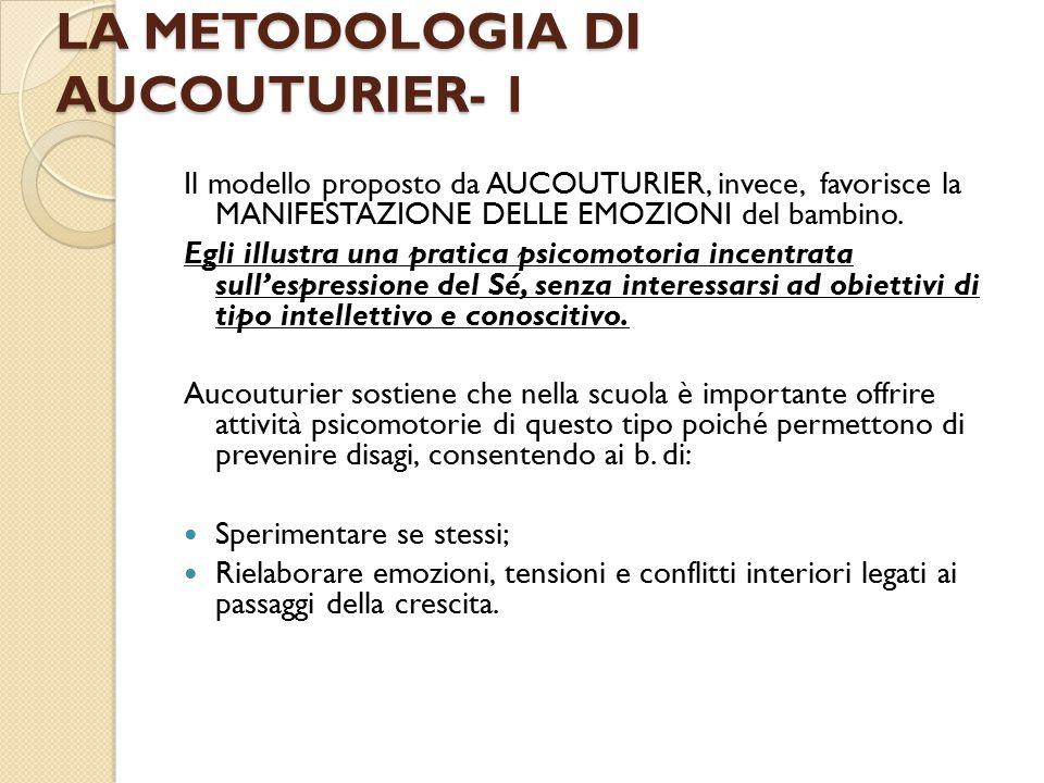 LA METODOLOGIA DI AUCOUTURIER- 1