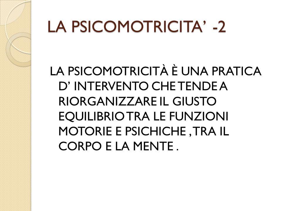 LA PSICOMOTRICITA' -2