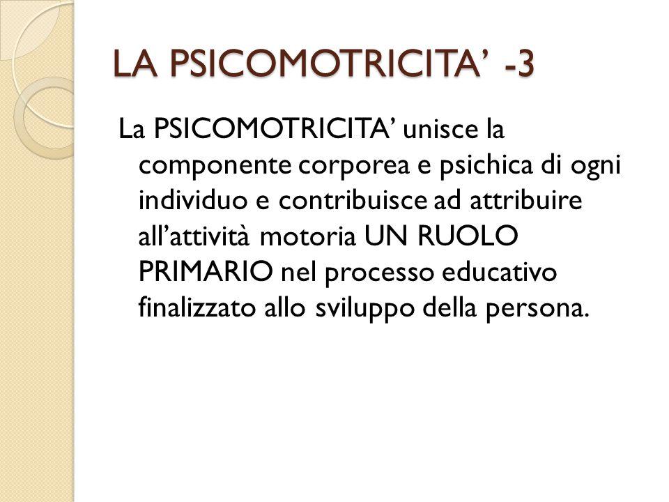 LA PSICOMOTRICITA' -3