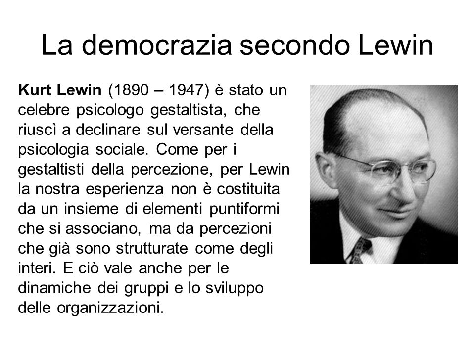 La democrazia secondo Lewin