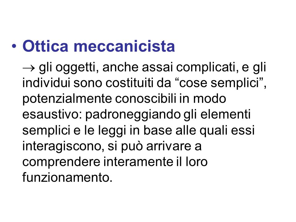 Ottica meccanicista