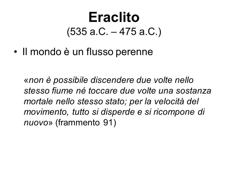 Eraclito (535 a.C. – 475 a.C.) Il mondo è un flusso perenne