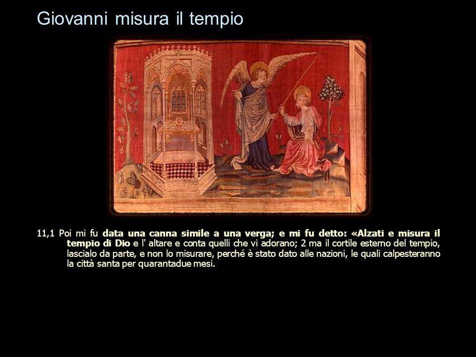 Giovanni misura il tempio