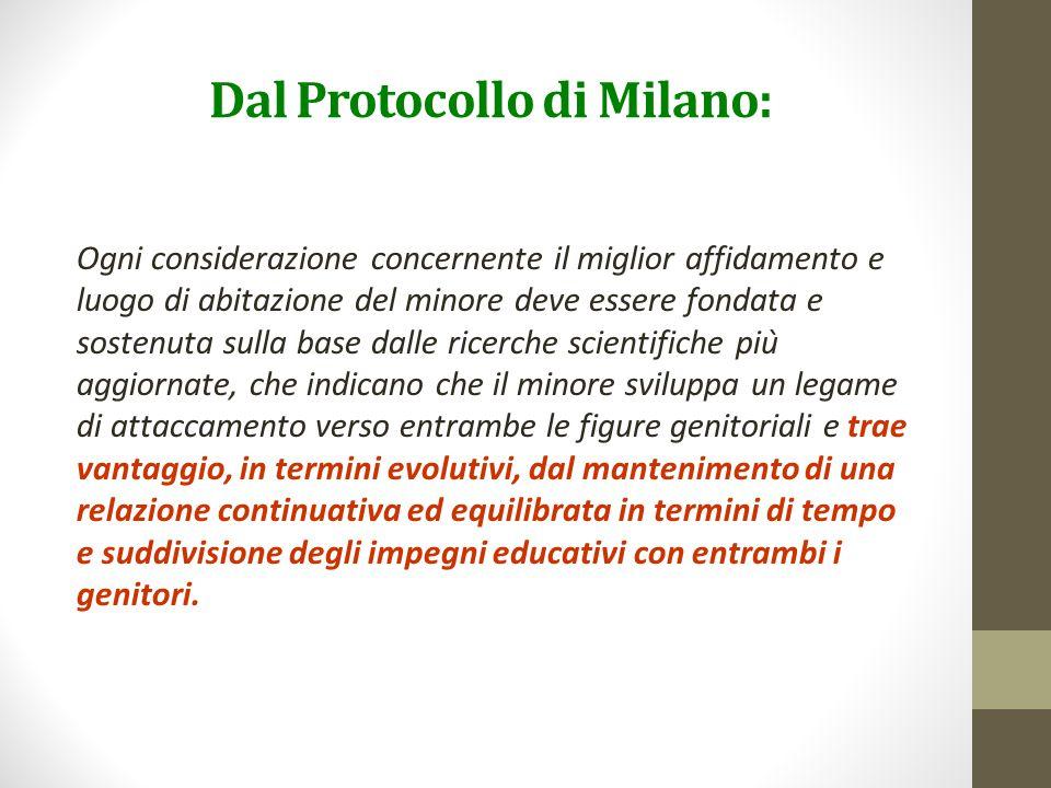 Dal Protocollo di Milano: