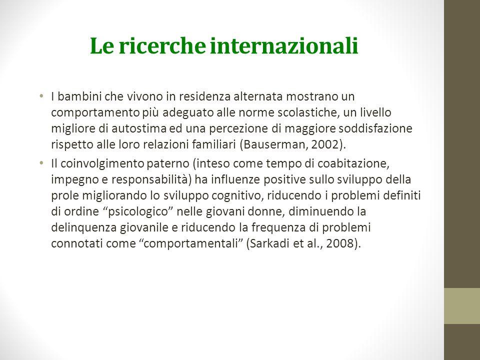 Le ricerche internazionali