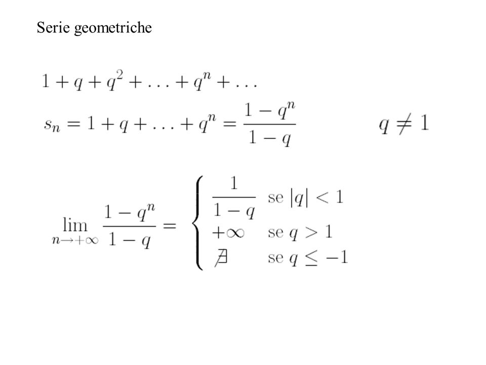 Serie geometriche