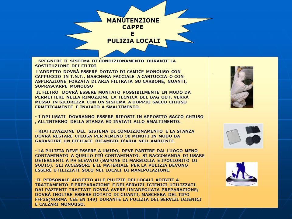 MANUTENZIONE CAPPE E PULIZIA LOCALI