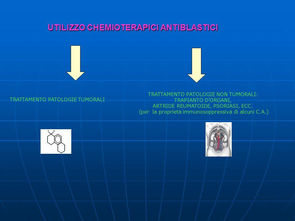 UTILIZZO CHEMIOTERAPICI ANTIBLASTICI