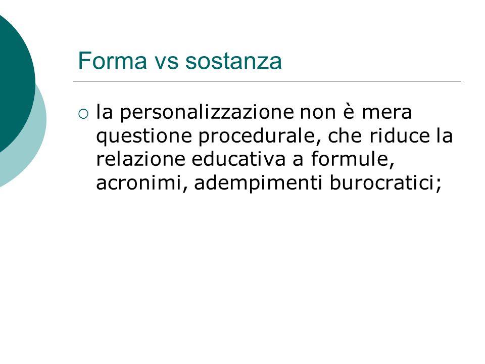 Forma vs sostanza