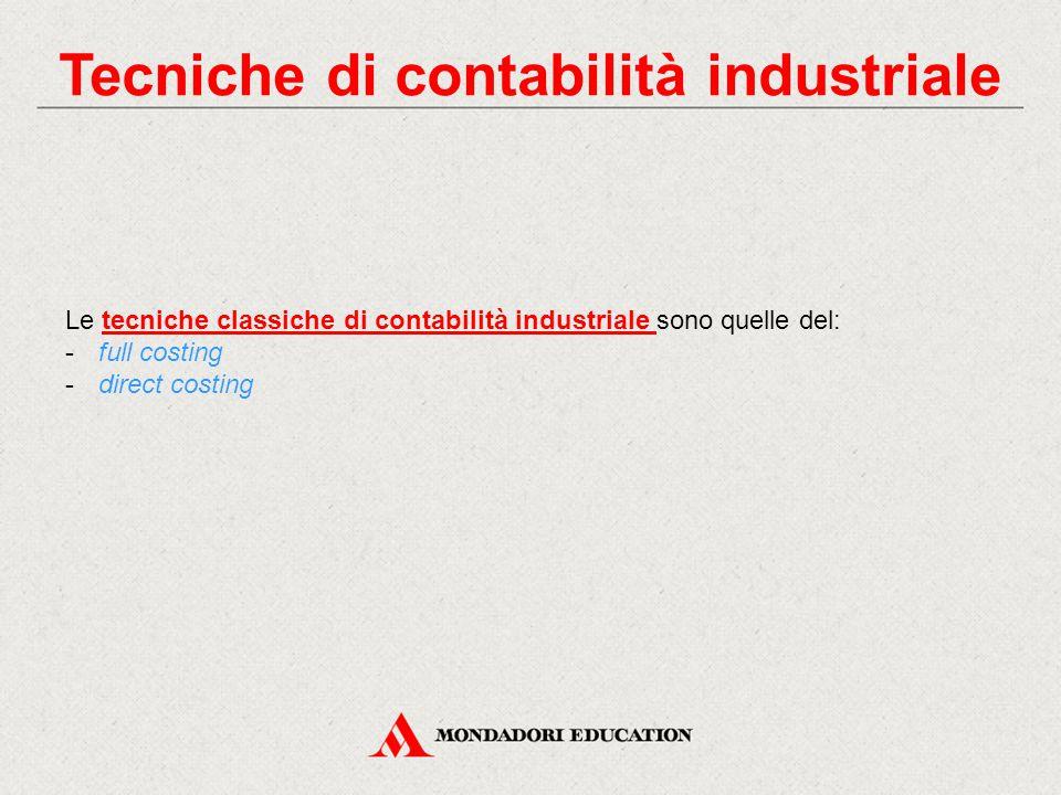 Tecniche di contabilità industriale
