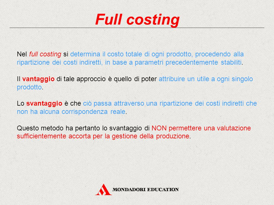 Full costing