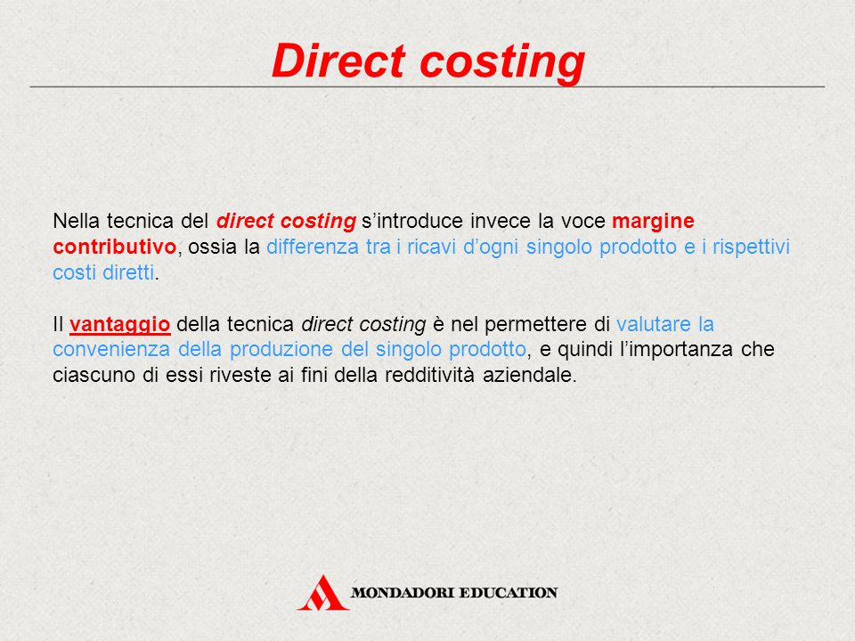 Direct costing