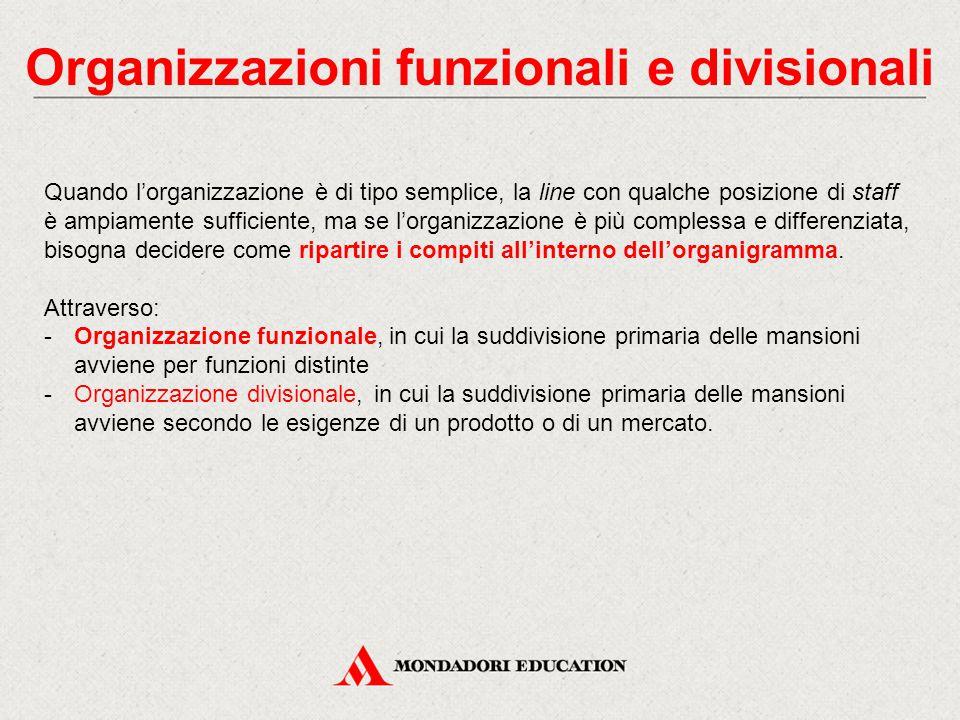 Organizzazioni funzionali e divisionali