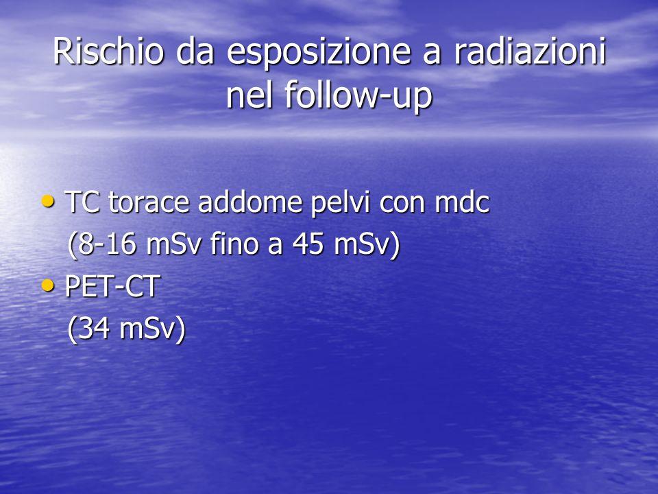 Rischio da esposizione a radiazioni nel follow-up