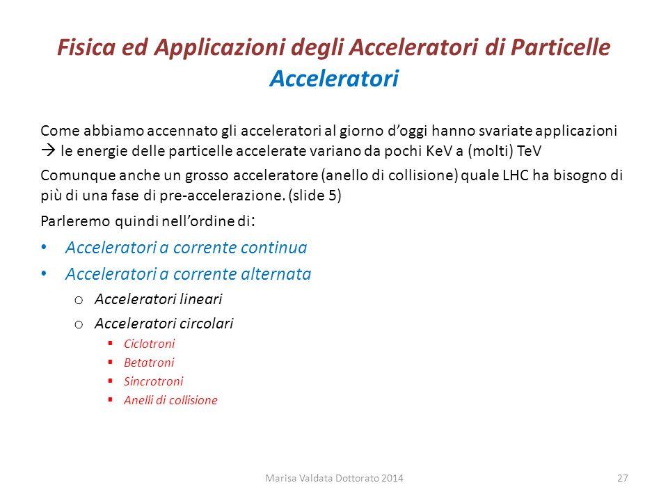 Fisica ed Applicazioni degli Acceleratori di Particelle Acceleratori