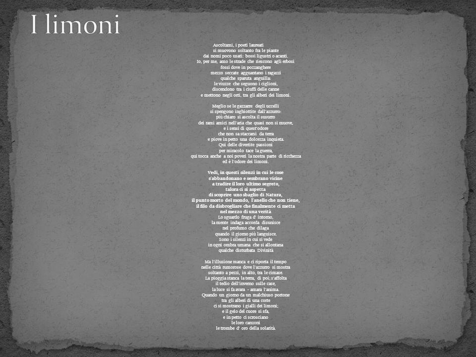Eugenio montale poesie ppt video online scaricare - Odore di fogna in bagno quando piove ...