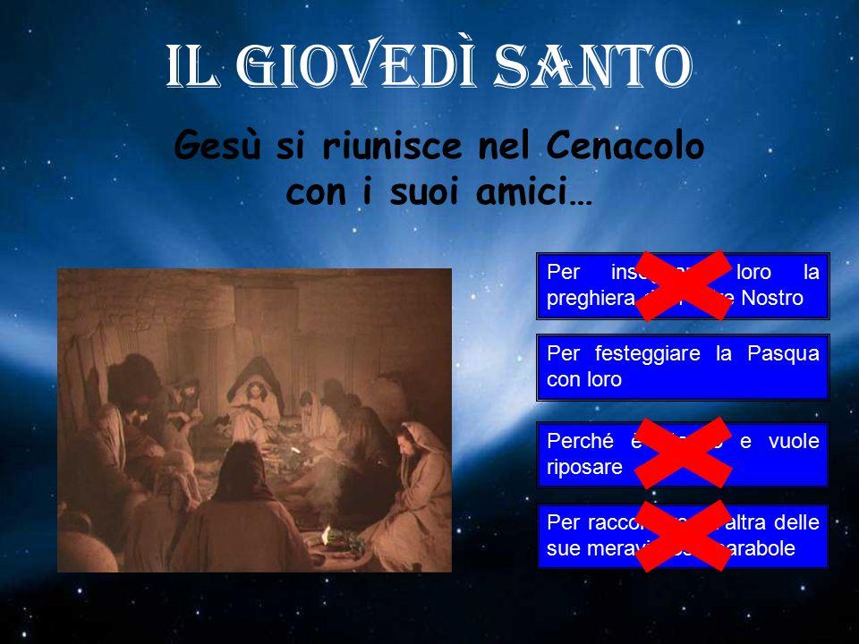 Gesù si riunisce nel Cenacolo