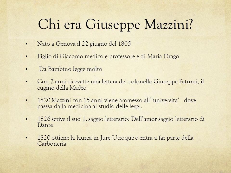 Chi era Giuseppe Mazzini