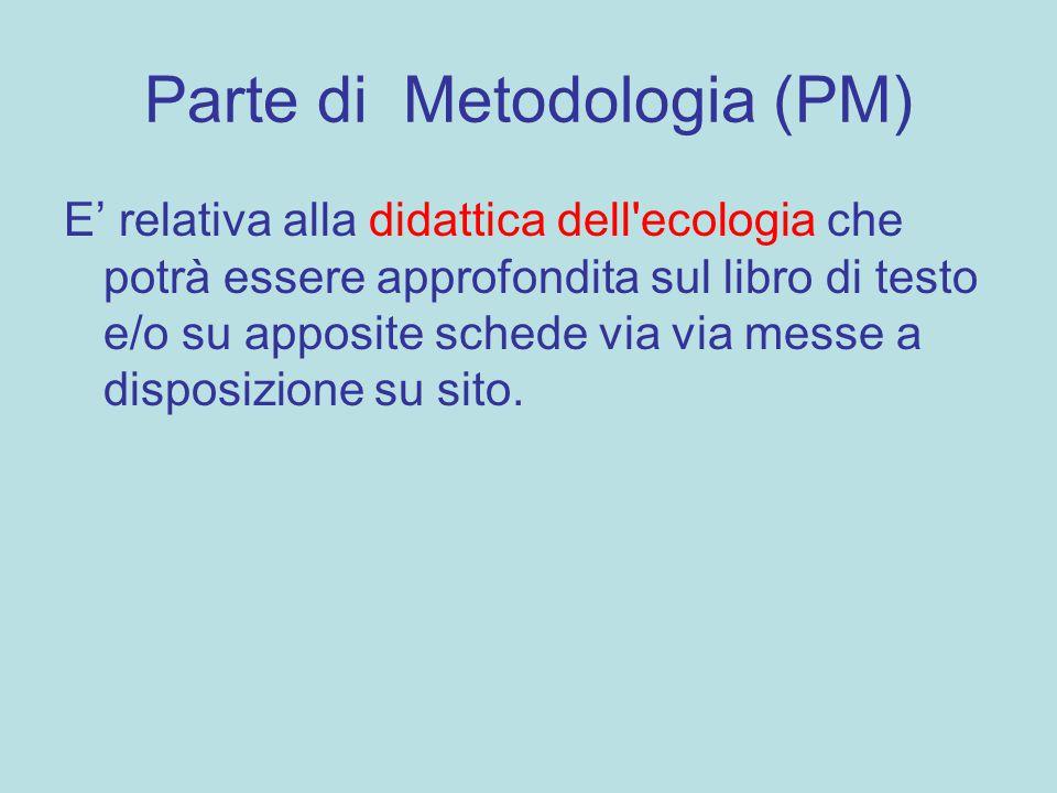 Parte di Metodologia (PM)