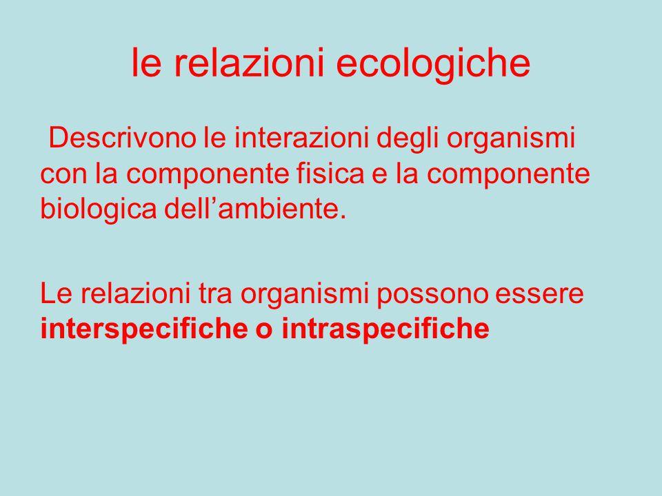 le relazioni ecologiche