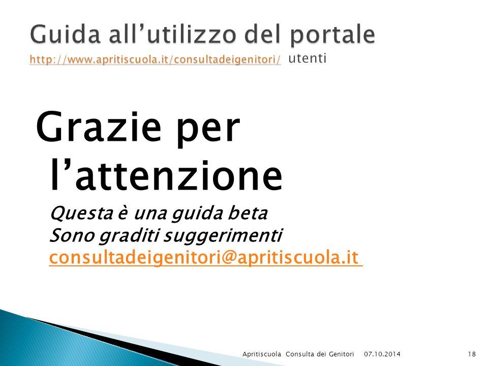 Guida all'utilizzo del portale http://www. apritiscuola