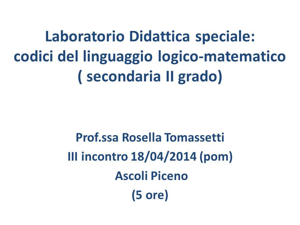 Prof.ssa Rosella Tomassetti