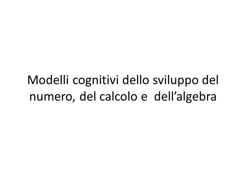 Modelli cognitivi dello sviluppo del numero, del calcolo e dell'algebra
