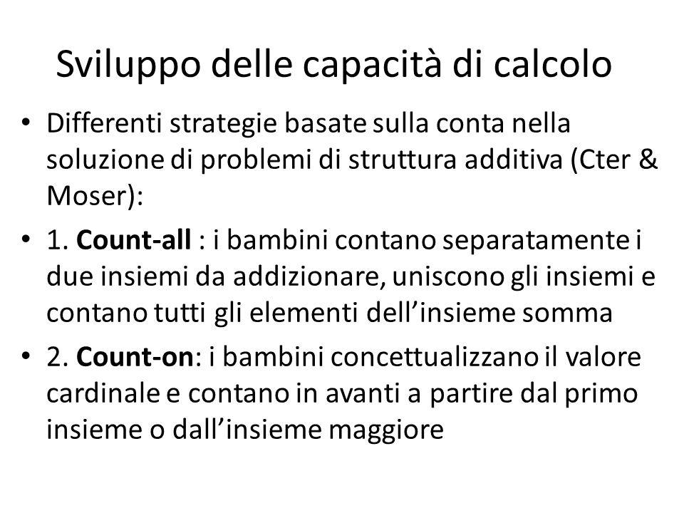 Sviluppo delle capacità di calcolo
