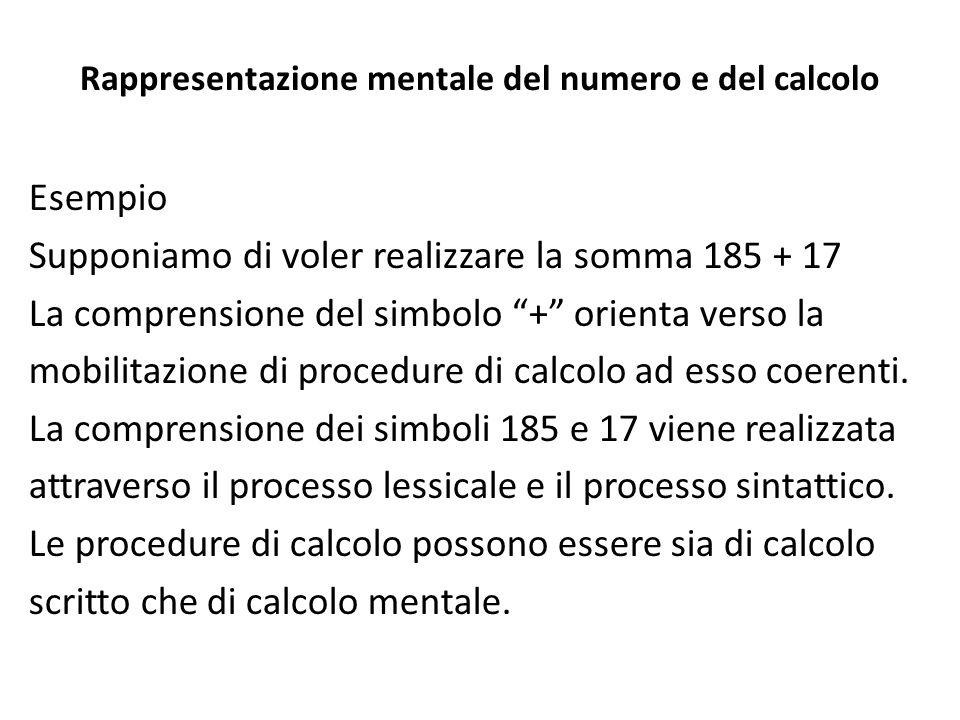 Rappresentazione mentale del numero e del calcolo