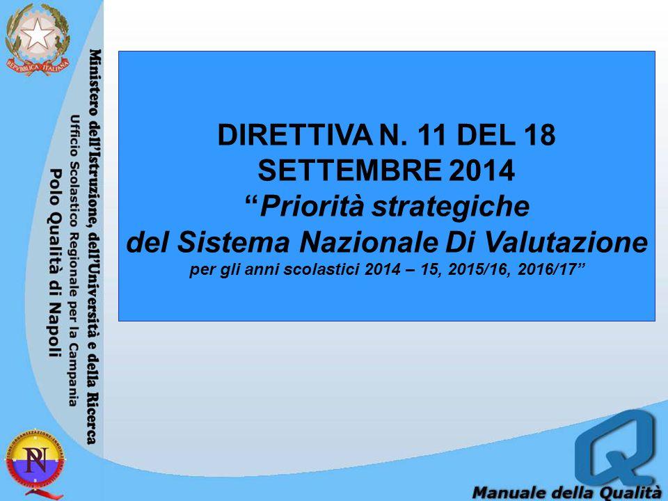 DIRETTIVA N. 11 DEL 18 SETTEMBRE 2014 Priorità strategiche