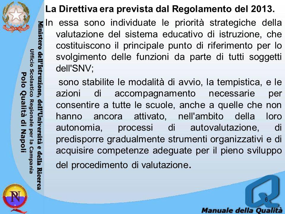 La Direttiva era prevista dal Regolamento del 2013